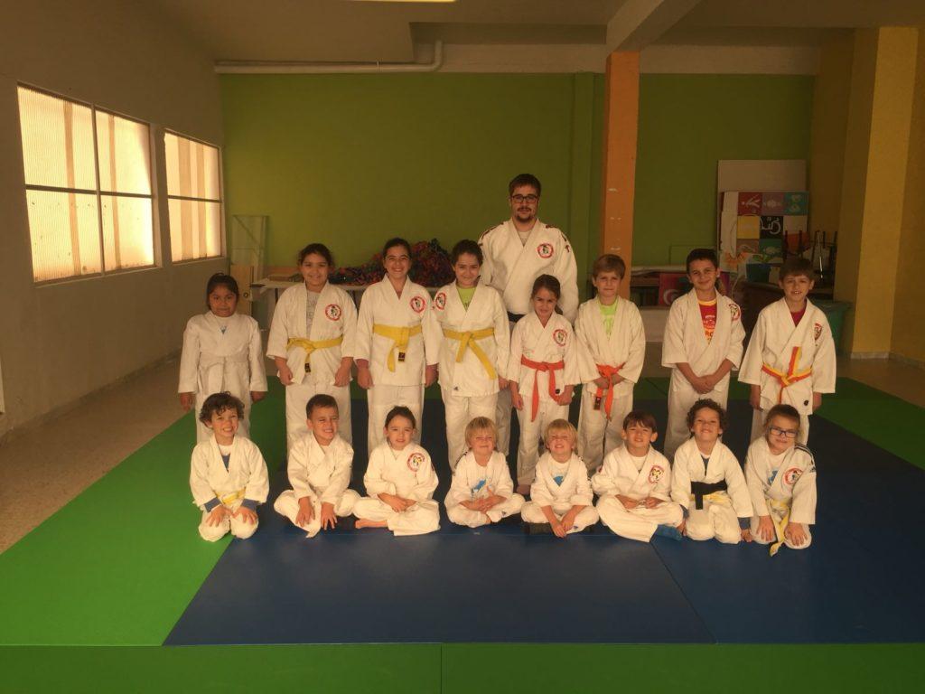 grupo de Judo del colegio Divino Maestro