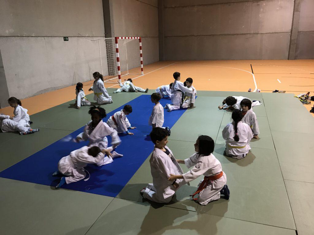 trabajando las caídas de Judo en Castellanos de Moriscos