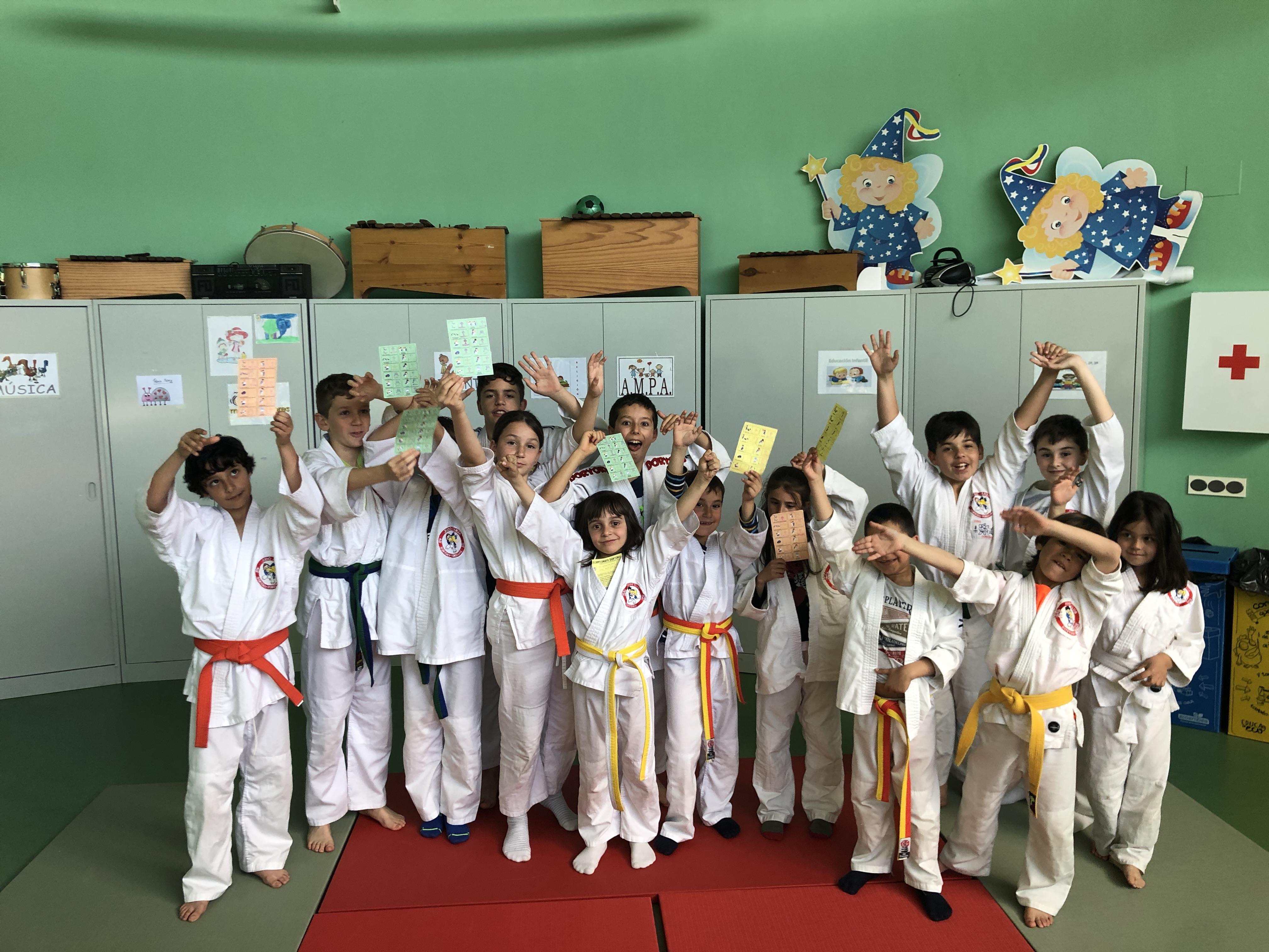 judo en el colegio Meléndez Valdés