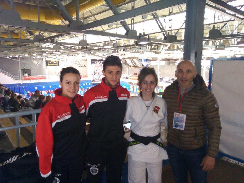 Cristina Rodríguez en la Copa de España celebrada en Madrid de Judo